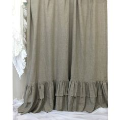 Dark Linen Curtains with Double Layers of Mermaid Long Ruffles | Handcrafted by SuperiorCustomLinens.com (from http://ift.tt/2gEiVlv) #shabbychic #farmhouse #farmhousestyle #farmhousedecor  #cottagestyle #cottageliving #mycottageinstincts #farmhousechic  #rufflebedding #ruffles #ruffleswithlove Double tab for more images.  #fortheloveoflinen #linen #bedlinen #tellmemore #interior4all  #pureline #purelinenutrition #interiordecor #bedroomdecor #bedroominspiration #handmade #handmadebedding…