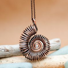 Copper Ammonite by Doodlecats by Beth Wilson, via Flickr - jewelry for sale, jewellery online buy, childrens jewellery *sponsored https://www.pinterest.com/jewelry_yes/ https://www.pinterest.com/explore/jewellery/ https://www.pinterest.com/jewelry_yes/wholesale-jewelry/ http://www.shaneco.com/jewelry/fashion-jewelry