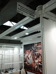 Setting up #WEAVE's display at booth 32036 for the NY@NOW, Pier 94 #event from August 16 to the 19, 2014. #artisan #resource #development #advocacy #source #sourceny #ny #nyc #handmade #fairtrade #products #design