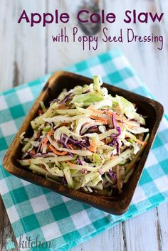 Apple Cole Slaw with Poppy Seed Dressing - KitchenJoy