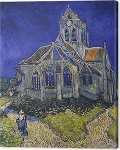 cfa22cd978e1ca Vincent van Gogh - The church in Auverssur Canvas Print • Pixers® • We live  to change