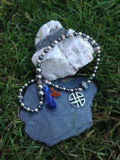 Hematite prayer beads, meditation beads, mala beads, multi-faith meditation,Druid, yoga beads,pagan prayer beads,Buddhist prayer beads