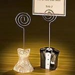 Bride and Groom placecard holders