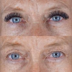 Before and after volume lashes done by Lori Myers at Let's Lash eyelash extension studio in Scottsdale, AZ