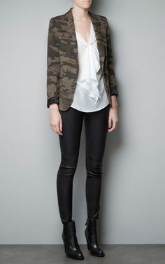 Camouflage One Button Leisure Blazers-$23.90 FREE SHIPPING