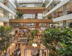 HofmanDujardin and Benthem Crouwel Architects have collaborated to design the offices of Dutch financial services company, ING, located in Amsterdam, Commercial Design, Commercial Interiors, Banks Office, Office Floor, Floor Plan Layout, Interior Garden, Floor To Ceiling Windows, Built Environment, Zaha Hadid