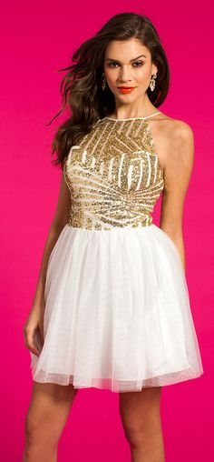 Short Sequin Halter