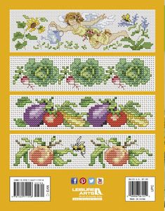 Towels to Stitch - Cross stitch towels for the bath and kitchen make quick and easy gifts to delight someone special. Here are 10 lovely designs and an elegant alphabet to decorate prefinished fingertip and kitchen towels. Designs include flowers, fresh fruits and vegetables, and angels.