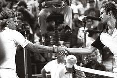 John McEnroe defeats Björn Borg in the US Open & Wimbledon