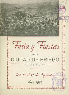 Feria y Fiestas en Priego (Cuenca) en honor al Cristo de la Caridad del 13 al 17 de septiembre de 1959 Se celebra un concurso de jotas serranas #Fiestaspopulares #Priego #Cuenca