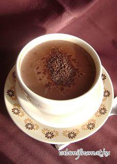 Valami finomat: Forró csokoládé por házilag Minion, Pudding, Chocolate, Tableware, Sweet, Desserts, Gifts, Food, Diy