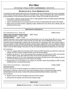 Pharmaceutical Sales Rep Resume - http://resumesdesign.com ...
