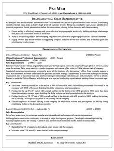 Sample Resume For Pharmaceutical Sales Manager Sample Resume For ...