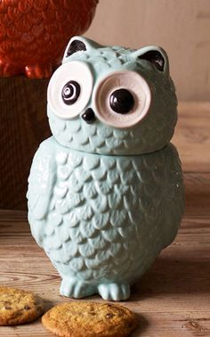 Whoo stole the cookies from the cookie jar? Teapot Cookies, Gadgets, Octopuses, Happy Kitchen, Ceramic Owl, Vintage Cookies, Vintage Owl, Cute Cookies, Cute Owl