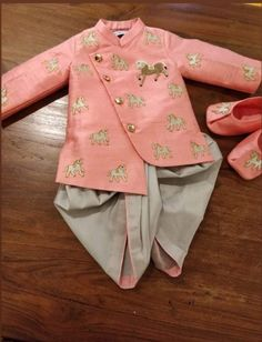 Designer pink boy kid sherwani royal customize To inquire whatsapp 918888328116 or ethnicdiagmailcom Kids Wear Boys, Kids Clothes Boys, Toddler Boy Outfits, Kids Outfits, Kids Indian Wear, Kids Ethnic Wear, Kids Dress Wear, Dresses Kids Girl, Traditional Dress For Boy