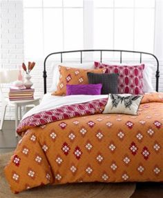 Idea Nuova Comforter Duvet Full Cotton Comforter Cover Set Orange Dark Red   #IdeaNuova #Modern