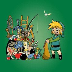 Te entendernos #Link ... Luego de 30 años es imposible guardar todos esos items en tu bolsita y no se olviden de las máscaras! . After 30 years of items... It would be impossible for Link to carry them and don't forget about the masks! . #thelegendofzelda #zelda #triforce #zelda2016 #zelda30thanniversary #hyrule #hylian #Nintendo #navi #sectornintendo #sectorn #videojuegos #videogames By mathieupynte82