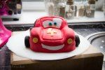 Lightning McQueen Cake - front  | Veri's Fairy Cakes