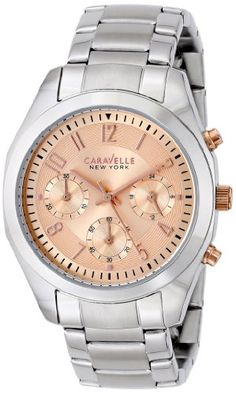 Caravelle New York by Bulova Womens Analog Display Japanese Quartz White Watch >>> Continue to the product at the image link. Bulova Watches, Casio Watch, Chronograph, Jewelry Watches, Quartz, York, Wrist Watches, Crystal Rose, Image Link