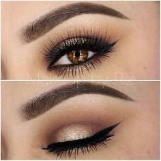 Shimmery Neutrals by @makeupbyriz I #pampadour #eotd #anastasia #eyes #eyeshadow #makeup #beauty