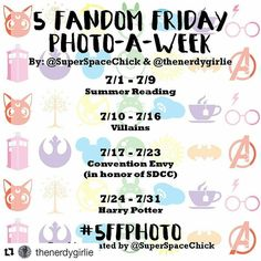 My photo challenge for July is related to something I participate each week on my blog - 5 fandom friday! #fandom #fandom5 #5ff #geek #geek #5ffphoto #july #julyphotochallenge #photochallenge @superspacechick @thenerdygirlie