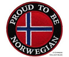 norwegian flag patch