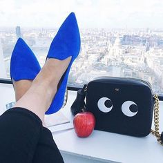 #NicholasKirkwood Casati Pearl Loafer. Blue Suede. Pearl Heel Detail. #SS16. Available now @Harrods