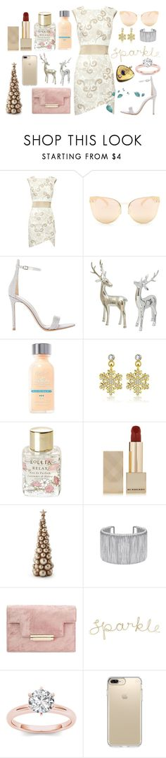 """""""Untitled #174"""" by mysticsjy ❤ liked on Polyvore featuring Quay, Gianvito Rossi, L'Oréal Paris, Lollia, Burberry and Speck"""