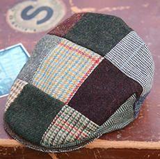 c3077d1a932d1 Mens Vintage Patchwork Irish Tweed Cap - Hanna Hats USA