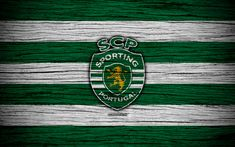 Download wallpapers Sporting, 4k, Portugal, Primeira Liga, soccer, wooden texture, Sporting SP, art, Sporting FC, football club, logo, FC Sporting