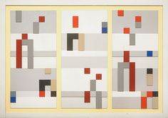 Vertical and horizontal composition by Sophie Taeuber-Arp // instead of the same old Mondrian?!