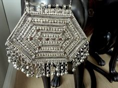 Ethiopian/Eritrean vintage silver wedding breast bib necklace. Boho necklace. broque necklace by Shebastreasures650 on Etsy