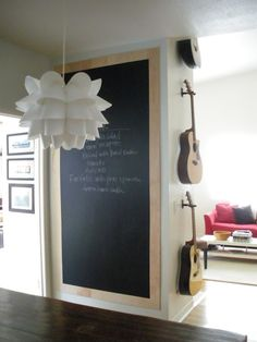 Once the bathroom is remodeled???  plywood chalkboard diy