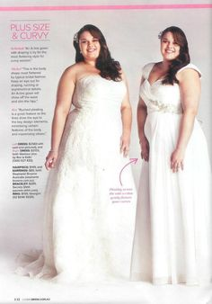 Cosmo real bride wedding gown tips for plus size and curvy girls