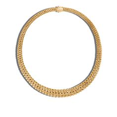 Classic Chain 13MM Graduated Necklace in 18K Gold