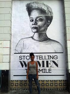 Meet the Woman Who Waged an Artistic War Against Her Street Harassers Brooklyn oil painter Tatyana Fazlalizadeh got fed up with dudes invading her space. So she started telling them so—very publicly.