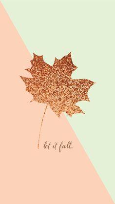 Fall Glitter leaf iphone wallpaper phone background lock screen