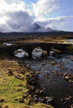 Sligachan Bridge, Isle of Skye, Scotland.