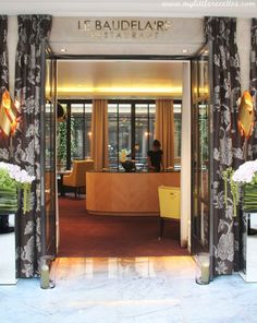 Table etoilee, Le Baudelaire de l'Hotel Le Burgundy Paris
