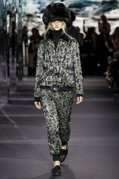 Moncler Gamme Rouge | AW 14/15 Camouflage sequins #PFW