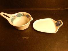 Figgjo Flint Clupea Turi Design Hot Butter Bowl & Tray Norway Scandinavian | Pottery & Glass, Pottery & China, Art Pottery | eBay!