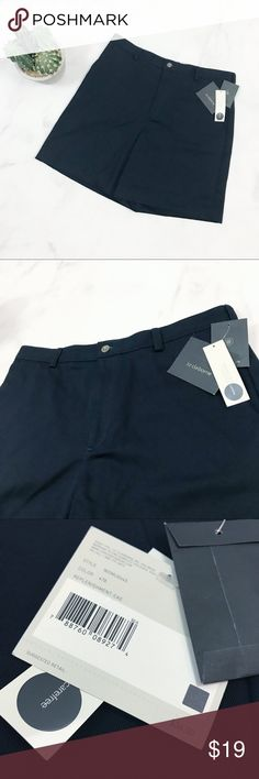 Liz Claiborne Navy Blue Bermuda Shorts Brand new with tags!   PRODUCT DETAILS: •Size: 11 / 12 •Colors: Navy Blue, Almost Black •Made in The Dominican Republic •Measurements: Length-18inch Inseam-6inch Rise-12inch Waist-16inch •100% Cotton •Machine Wash •High Waist •Hits above Knee •Two Pockets, Back two seem faux (it looks like there is a removable seam that can open the two back pockets) •Sturdy durable material  Tags: work career professional business outdoor hiking khaki safari tourist…