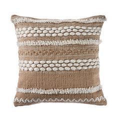 Give your living room or office a cozy touch with our Neutral Embroidered Accent Pillow! This textured pillow is an excellent way to warm up any space. Brown Throw Pillows, Cream Pillows, Neutral Pillows, Accent Pillows, Accent Walls, Burlap Pillows, Couch Pillows, Decorative Pillows, Home Office