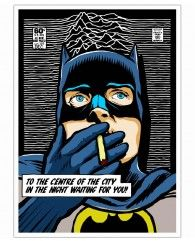 Post-Punk Comix- Bat Curtis-Poster