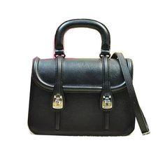 miu miu Original Leather Tote Bag RN1068 Black - $239.00