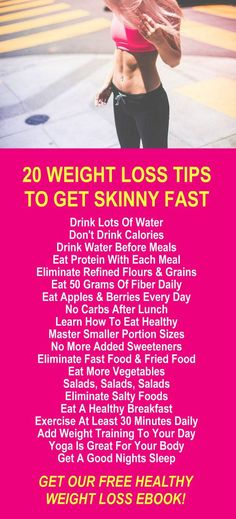 20 Weight Loss Tips To Get Skinny Fast. Get our FREE healthy weight loss eBook with suggested fitness plan, food diary, and exercise tracker. Our alkaline rich, antioxidant loaded, Moringa based products help your body detox, cleanse, increase energy, burn fat, and lose weight more efficiently. Learn More #WeightLoss #FatBurning #Health #Diet #Tips