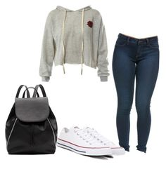 """""""Untitled"""" by folieapanic ❤ liked on Polyvore featuring Sans Souci, Converse and Witchery"""