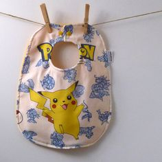 Hey, I found this really awesome Etsy listing at https://www.etsy.com/listing/166579673/pokemon-baby-gift-pikachu-baby-bib-made