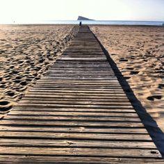 Benidorm, playa de poniente un día de enero...
