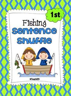 Fishing Fluency Center: Sentence Shuffle - 1st grade rdg. level - priced